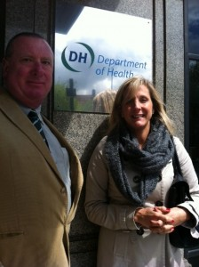 Carrie and me at the Dept. of Health in May